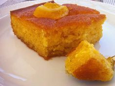 Traditional Greek Yogurt Cake with Orange Syrup (Portokalopita) Extra Syrupy Greek Yogurt Cake with Oranges (Portokalopita) - My Greek Dish Greek Cake, Greek Yogurt Cake, Greek Sweets, Greek Desserts, Desserts With Oranges, Food Cakes, Portokalopita Recipe, Kolaci I Torte, Greek Cooking