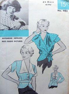 Vintage Dress Patterns, Blouse Vintage, Clothing Patterns, Vintage Clothing, Vintage Outfits, Star Hollywood, Vintage Hollywood, 1930s Fashion, Retro Fashion