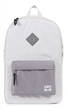 e2bfd83742a9e Herschel Heritage Backpack Poly Rubber Lunar Grey Grey Backpacks