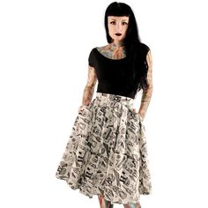 Inked Boutique - Folter Objects Of Desire Skirt Cream Gothabilly - Find it at www.inkedboutique.com.
