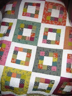 PDF Quilt Pattern Easy one jelly roll Market Square by sweetjane