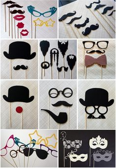 Photobooth Accessories. We could also use these as photo props for the reception.