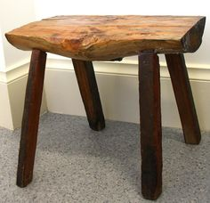 Rustic hand made foot stool and/or childs stool.  My Modern Nest 20 Smith street, Thebarton, Adelaide, South Australia, 5031.