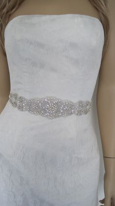 Crystal wedding dress sash,wedding belt sash,bridal sash wedding--elsa P. $69.00, via Etsy.