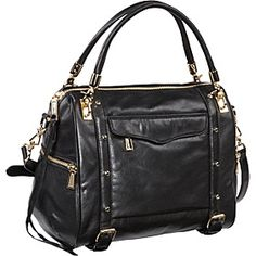Cupid Flap Pocket Satchel Black