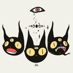 I'm looking to get these guys turned into enamel pins.  =^.^= . . . . . #blackcatdrawing #applepencil #artist #art #outsiderart #witchylife #catart #blackcats #ipadproart #tattoodrawing #superflat #catdrawing #sharingart #artwork #darkart #gothicart Creepy Sketches, Art Sketches, Art Drawings, Black Cat Drawing, Black Cat Art, Black Cat Aesthetic, Aesthetic Drawing, Pretty Art, Cute Art