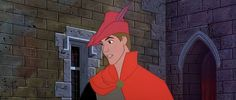 Disney Princes also have a real knack for accessories. Check out this cape + jaunty cap combination.
