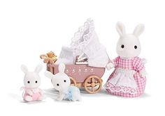 Calico Critters Connor & Kerri's Carriage Ride, Toy Bunny Gift for Easter Basket Nim C, Ready To Play, Doll Toys, Baby Toys, Things That Bounce, Teddy Bear, Cute, Sylvanian Families, Glitter Sandals