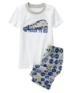 On Track to Bed Shortie Two-Piece Gymmies® at Gymboree (Gymboree 4-10y)