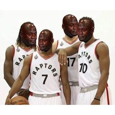 The Toronto Raptors after trailing by 40 points through 3 quarters. #cryingjordanface #wethenorth #nba #nbaplayoffs #basketball #cryingjordan
