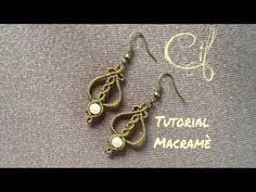 Tutorial Macramè Small Dangle Earrings - YouTube