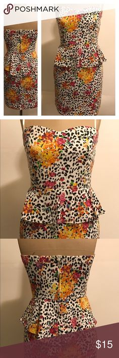 **Make A Offer** Fury Tube Dress Preowned Fury Tube Dress with floral print. Nice dress for casual and evening events. Feel free to ask any questions. Fury Dresses