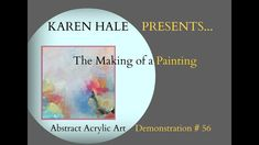 Abstract Acrylic Art Demonstration/ Blending and Layering