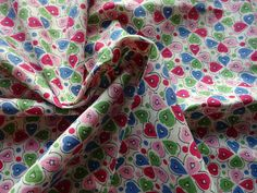 Vintage 1940s Narrow Width Brushed Cotton Dress Making Fabric Abstract per Yard