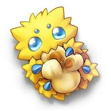 SQUEE!  It's a joltik with a piece of popcorn!