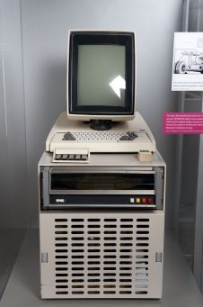 Xerox Alto was the first truly modern personal computer, it had number of firsts including graphical user interface (GUI), desktop, mouse. Apple, Sun and later Microsoft derived/copied heavily from this design (1973).