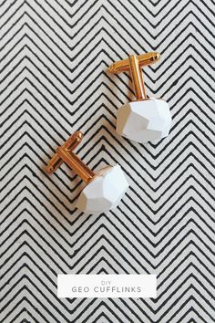 diy geo cufflinks  |  almost makes perfect. i'd love to make a pendant or ring instead!