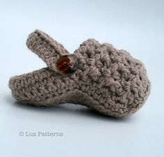 Super cute and very fashion forward crochet baby clogs pattern!. These crochet pattern is for these lovely baby shoes, the textured upper makes them a perfect pattern for baby girls and baby boys, perfectly unisex! A fast project with a twist to keep baby booty making interesting!.