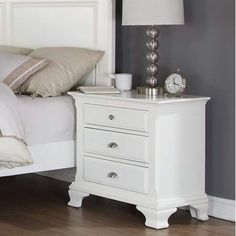 The Roundhill Furniture Laveno 012 White Wood Night Stand online shopping - Aristatopshop Furniture, Bush Furniture, Online Furniture Outlet, White Bedside Table, Laveno, Furniture Outlet Stores, Bedside Cabinet, 3 Drawer Nightstand, White Wood