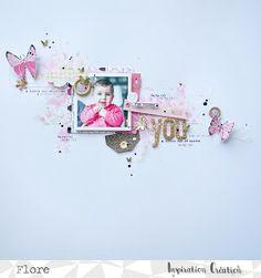 """Inspiration Création Blog: Une jolie poupée tout de rose vêtue avec le kit d'Avril """"par Flore"""""""