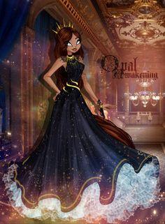 Awakening : Opal in a dress by RubyneS