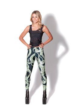 Tentacular Leggings - MADE TO ORDER by Black Milk Clothing