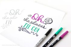 These Back to School Hand Lettering Practice Sheets are great for kids and parents who want to start lettering! Download all four designs for FREE!