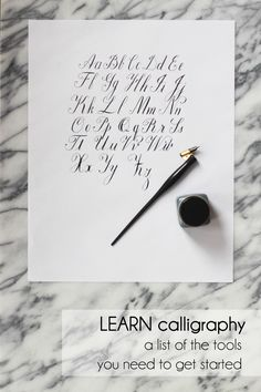 Learn Calligraphy: The Supplies You Need — Kelsey Malie Calligraphy Calligraphy Supplies, Calligraphy Paper, Calligraphy Envelope, Learn Calligraphy, Wedding Calligraphy, Wedding Invitation Inspiration, Wedding Invitations, Pretty Handwriting, Pretty Letters