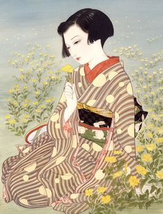 Chinese Ladies Meticulously Dressed in Traditional Clothing. China is a large multinational state. It is composed of 56 ethnic groups Posted by Sifu Derek Frearson Japanese Art Modern, Japanese Artwork, Japanese Prints, Japanese Culture, Pix Art, Japan Illustration, Japan Painting, Art Asiatique, Japan Art