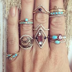 A few beauties from the designer @mociun stop by Eliza Page to check out the Mociun collection!