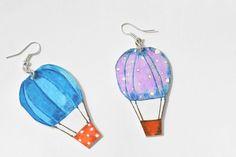 Orecchini mongolfiere in polyshrink di LabLiu su Etsy