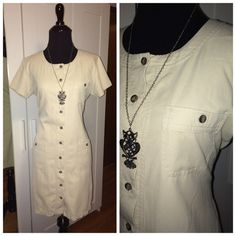 SALETalbots Khaki Dress Talbots Khaki Dress with pockets size 10 petite Talbots Dresses