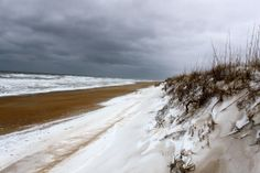 About 8 inches of snow in Nags Head, North Carolina. :: January 29, 2014 :: #SnOBX
