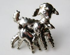 Vintage 50s Mary Had a Little Lamb Sterling by SoCalJewelBox