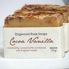 Cocoa Butter Vanilla Handmade Soap Cake Bar Creamy Chocolate
