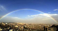 rainbow over bethlehem Christmas eve