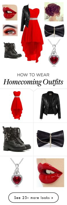 """""""Queen of Hearts"""" by lovelyworlditis on Polyvore featuring RED Valentino, Jimmy Choo and Miadora"""