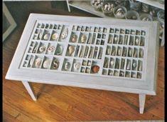 Printer's Drawer Coffee Table (like the idea, minus the shells)