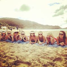 Jessica Alba, Nicole Richie, Kelly Sawyer, and friends posed in bikinis on the beach in St. Barts.