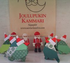 Set of six origami Christmas birds by verycute on Etsy, $5.25
