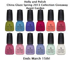 Holly and Polish: A Nail Polish and Beauty Blog: China Glaze Avant Garden Collection Giveaway!