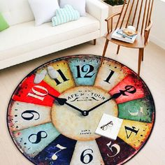 Vintage Clock Designed Round Carpet 24.84 and FREE Shipping Tag a friend who would love this! Active link in BIO #instagood #instafashion #photooftheday #fashionista