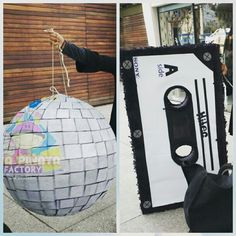 Pedido especial de #Piñatas #BolaDisco y #Casette  nada como una piñata personalizada para dar un toque especial a tu fiesta tematica.