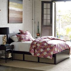 Beautiful and practical...Sylvan Storage Bed from west elm