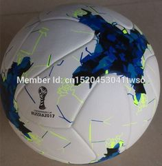 26.00$  Watch here - Newest Arrival Russia 2017 Confederations Cup Size 5 Seamless PU Blue Soccer Ball Top Training Size 5 Football With Gas needle!!  #buyonline