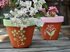 Painting Clay Flower Pots | Wall Paint