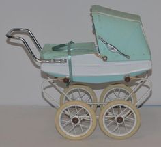 Vintage Doll French Doucet Pram Buggy Carriage Fancy