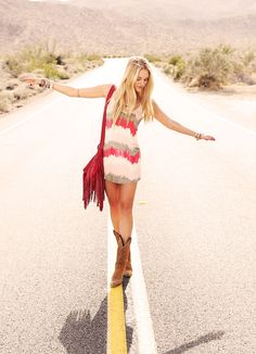 blogger Shea Marie shows off her festival style.