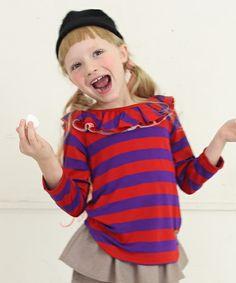 【セール】ボーダーラッフル9分袖Tシャツ(Tシャツ/カットソー)|COMECHATTO&CLOSET(カムチャットアンドクロゼット)のファッション通販 - ZOZOTOWN