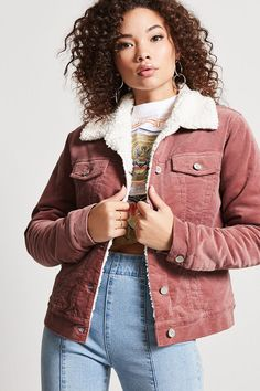 Product Name:Sherpa Fleece-Lined Velvet Jacket, Category:outerwear_coats-and-jackets, Price:34.9